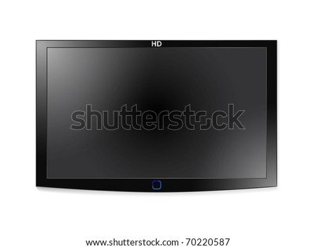 High-detailed vector illustration of plasma LCD TV - stock vector
