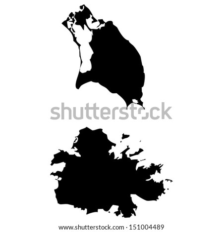 High detailed vector map - Antigua and Barbuda