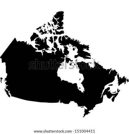 High detailed vector map - Canada  - stock vector