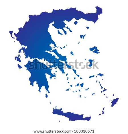 High detailed vector map Greece - stock vector