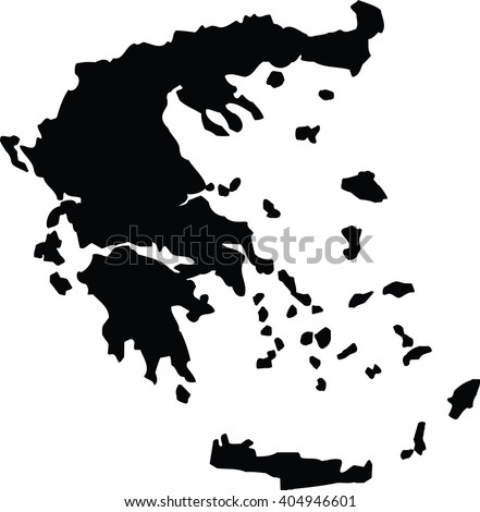 High detailed vector map - Greece - stock vector
