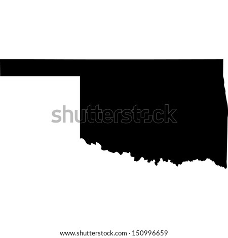 High detailed vector map - Oklahoma  - stock vector