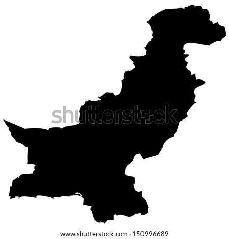 High detailed vector map - Pakistan  - stock vector