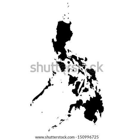 High detailed vector map - Philippines  - stock vector