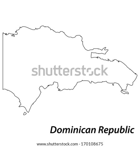 Dominican republic outline stock photos images for Dominican republic coloring pages