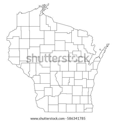 Wisconsin Map Stock Images RoyaltyFree Images Vectors - Wisconsin counties map