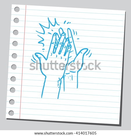High five hands - stock vector