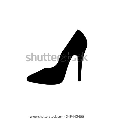 high heel shoes icon - stock vector