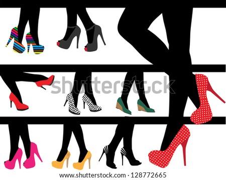 High Heels - stock vector