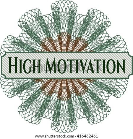 High Motivation linear rosette - stock vector