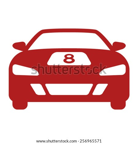 High performance race car flat icon - stock vector