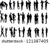 high quality business people silhouettes - stock photo