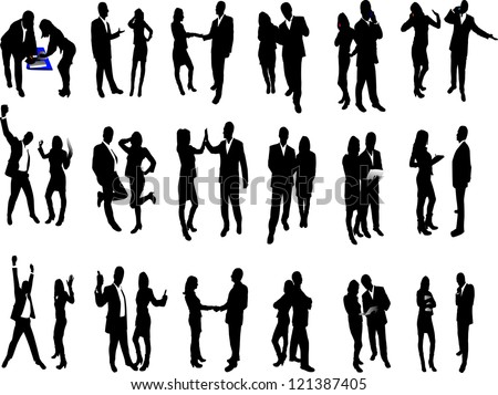 high quality business people silhouettes