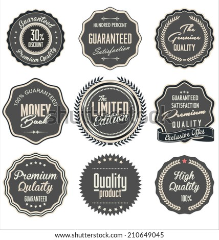 High Quality Labels  - stock vector