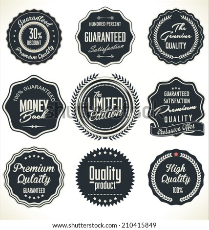 High Quality Labels Set - stock vector