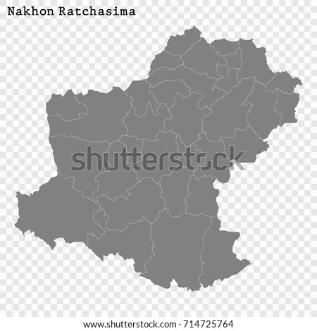 High Quality Map Nakhon Ratchasima Province Stock Vector 2018