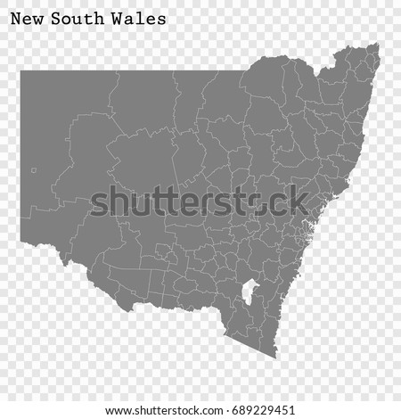 High Quality Map New South Wales Stock Vector HD Royalty Free