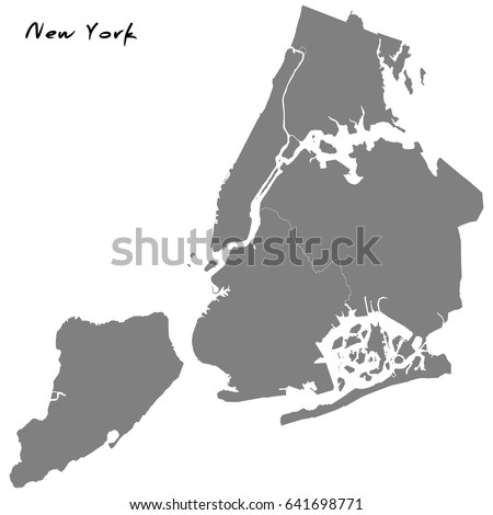 New York City Map Stock Images RoyaltyFree Images Vectors - Map of new