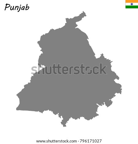 High Quality Map Punjab State India Stock Vector Royalty Free