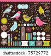 high quality scrapbook elements that you need - details and colorful - stock vector