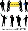 high quality silhouettes of people - vector - stock vector