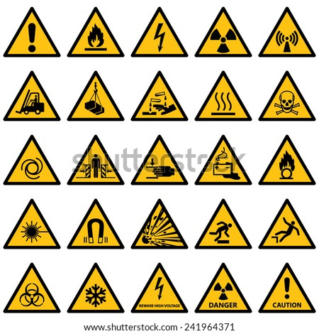 High quality Standard Warning sign collection.