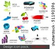 High quality vector 3d icons. Collection. - stock vector