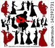 High quality vector illustration of people dancing flamenco - stock vector
