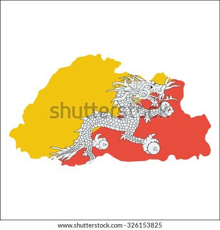 Bhutan Map Stock Images RoyaltyFree Images Vectors Shutterstock - Bhutan map