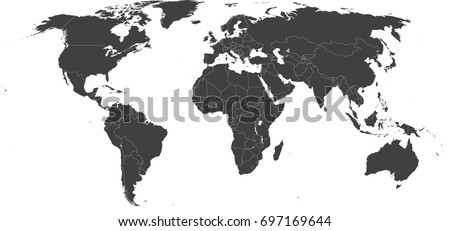 High resolution map world without antarctica stock vector high resolution map of the world without antarctica split into individual countries showing gumiabroncs Choice Image