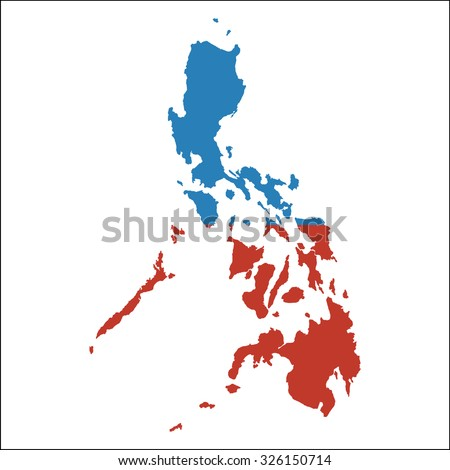 High resolution philippines map country flag vectores en stock high resolution philippines map with country flag flag of the philippines overlaid on detailed outline gumiabroncs Choice Image