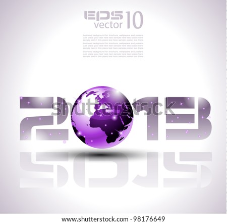 High tech and technology style 2013 happy new year celebration background for your posters, flyers and business presentations. - stock vector