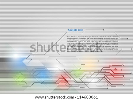 High-tech background - stock vector