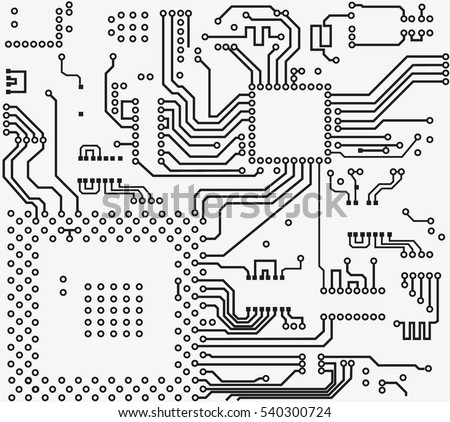 high tech circuit board vector background stock vector