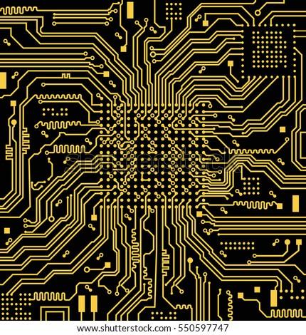 High Tech Circuit Board Vector Background Stock Vector 550597747 ...