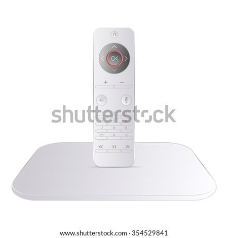 High-tech multimedia remote control - stock vector
