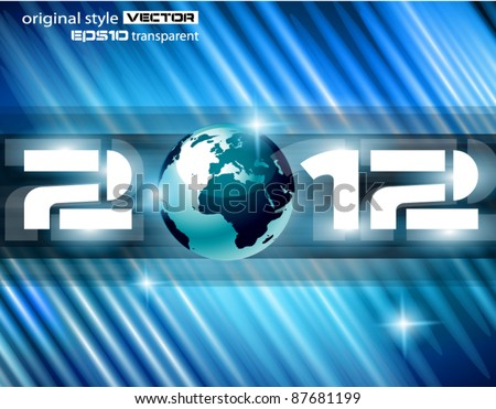 High Tech New Year Celebration Background with rays of light and Rainbow Colours. Ideal for alternative Flyer or psters. - stock vector