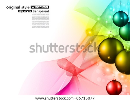 High tech rainbow Christmas background for corporate business greetings flyer or presentation - stock vector