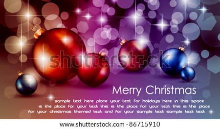 High tech rainbow Chrstmas background for corporate business greetings flyer or presentation - stock vector