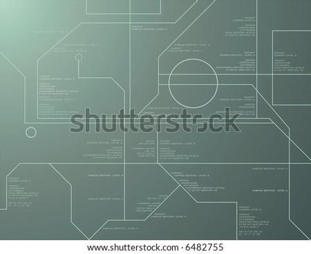 High Tech Readout Vector Background - stock vector