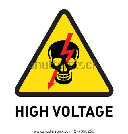 high voltage - stock vector