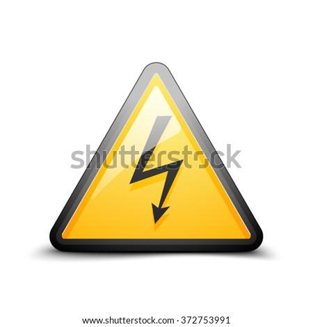 High Voltage danger sign - stock vector