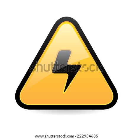 High Voltage Icon - stock vector