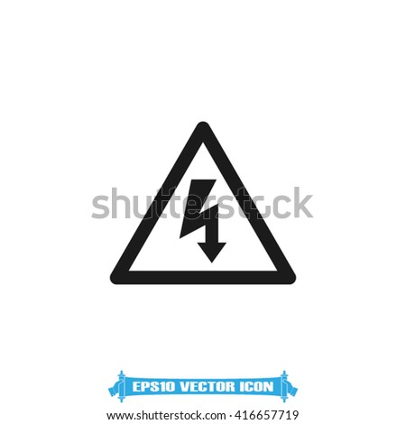 High voltage icon vector. High voltage Illustration, vector graphics eps10. High voltage logo. High voltage web icon. High voltage icon app. High voltage icon, flat style design. High voltage icon - stock vector
