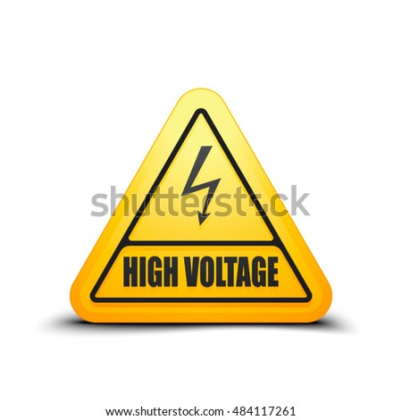 High Voltage Risk sign