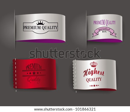 highest and premium quality labels - stock vector