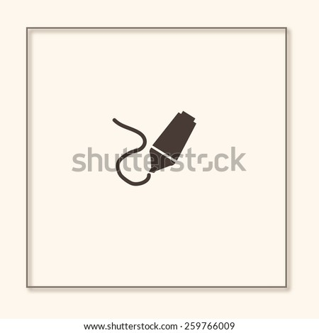 highlighter with hand drawn markings - stock vector