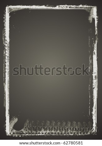 Highly detailed grunge Vector frame  with space for your text or image. - stock vector
