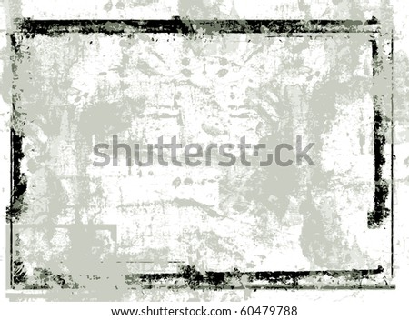 Highly detailed grunge Vector frame  with space for your text or image. Great grunge  frame for your projects - stock vector