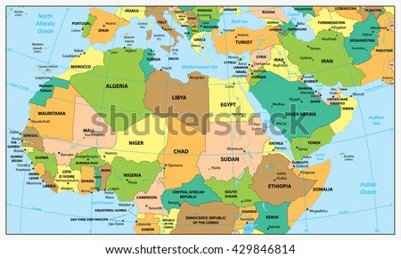Highly detailed political map northern africa stock vector hd highly detailed political map northern africa stock vector hd royalty free 429846814 shutterstock gumiabroncs Images